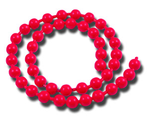 Bead Chain Eyes - Fl Red