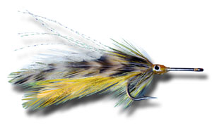 Big Eye Tarpon Fly - Grizzly & Yellow