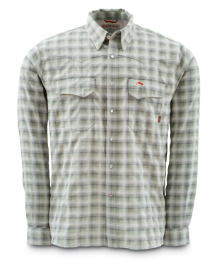<font color=red>On Sale - Clearance</font><br>Simms Big Sky Shirt - Long Sleeve - Birch Plaid