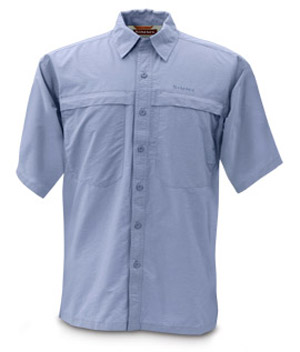 <font color=red>On Sale - Clearance</font><br>Simms Bluewater Shirt - Short Sleeve - Blue