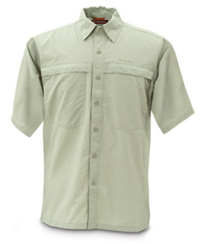 <font color=red>On Sale - Clearance</font><br>Simms Bluewater Shirt - Short Sleeve - Green