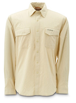 <font color=red>On Sale - Clearance</font><br>Simms Bugblocker Plaid Shirt - Yellow