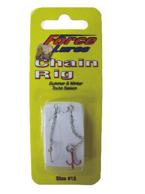 HT Chain Rigs w/ #12 Blood Red Treble Hook and #12 Single Hook