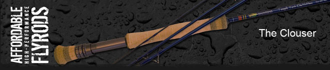 "<font color=red>On Sale - Clearance</font><br>TFO Clouser Series Fly Rods - 8' 9"" 5wt (TF 05 89 4 X)"
