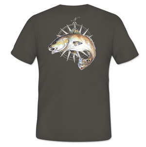 <font color=red>On Sale - Clearance</font><br>Simms Cochran Redfish Compass T-Shirt - SS - Gunmetal
