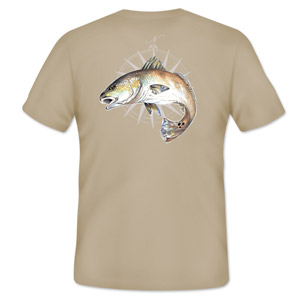 <font color=red>On Sale - Clearance</font><br>Simms Cochran Redfish Compass T-Shirt - SS - Sand