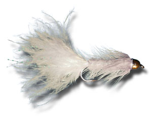 Conehead Woolly Bugger - White