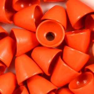 Tungsten Conehead Beads - 25/bag - Fl Orange