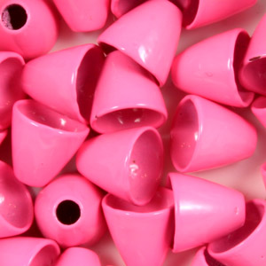 Brass Conehead Beads - 100/Bag - Fl Pink