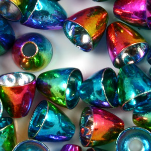 Tungsten Conehead Beads - 25/bag - Rainbow
