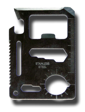 Credit Card Survival Multi-Tool / Bottle Opener