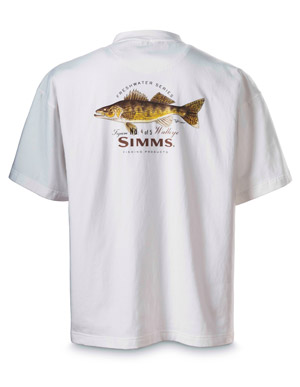 <font color=red>On Sale - Clearance</font><br>Simms Currier Short Sleeve T-shirt - Walleye