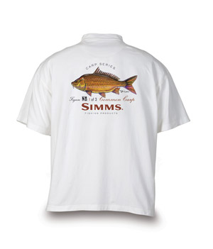 <font color=red>On Sale - Clearance</font><br>Simms Currier Short Sleeve T-shirt - Common Carp