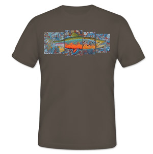 <font color=red>On Sale - Clearance</font><br>Simms T-Shirt - DeYoung Freshwater 4 Panel - SS - Gunmetal