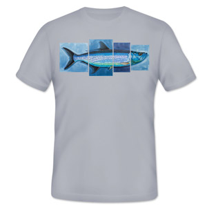 <font color=red>On Sale - Clearance</font><br>Simms T-Shirt - DeYoung Tarpon 4 Panel - SS - Storm