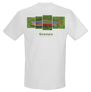 <font color=red>On Sale - Clearance</font><br>Simms DeYoung T-Shirt Emerald 4-in-1 - SS - White