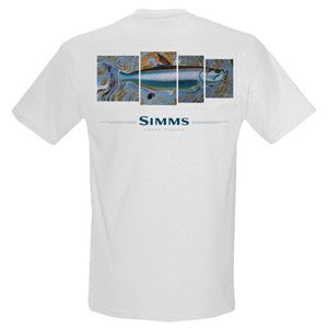 <font color=red>On Sale - Clearance</font><br>Simms DeYoung T-Shirt - Tarpon 4 Panel - SS - White
