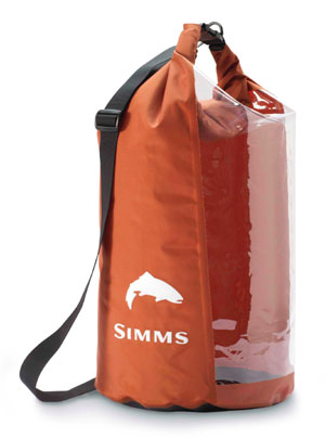 <font color=red>On Sale - Clearance</font><br>Simms Dry Creek Roll Top - Orange/Clear