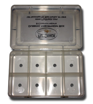8 Compartment Drilled Dubbing Box