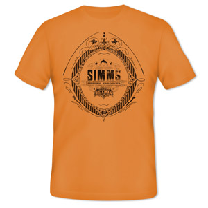 <font color=red>On Sale - Clearance</font><br>Simms Emblem T-Shirt - SS - Orange
