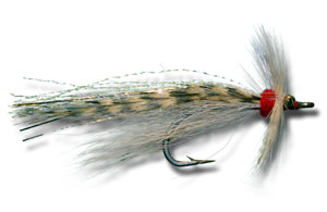 Flash Tail Whistler - White & Grizzly
