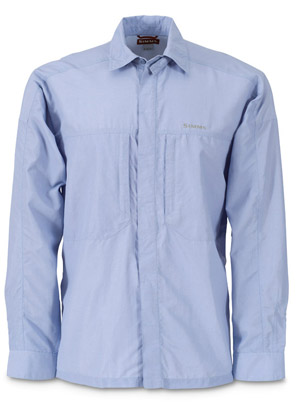 <font color=red>On Sale - Clearance</font><br>Simms Flyaway Solid Shirt - Blue