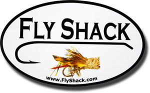Fly Shack Oval Decal