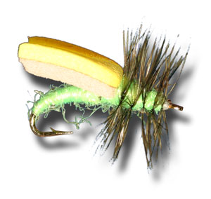 Foam Wing Caddis - Bright Green