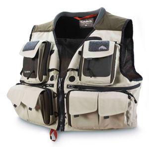<font color=red>On Sale - Clearance</font><br>Simms G3 Guide Vest - Khaki