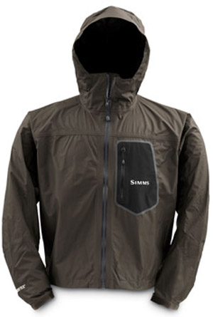 <font color=red>On Sale - Clearance</font><br>Simms GO Invest Paclite Jacket - Brown