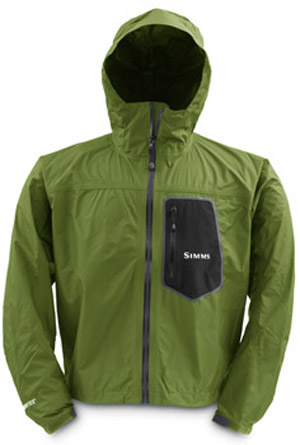 <font color=red>On Sale - Clearance</font><br>Simms GO Invest Paclite Jacket - Cala Green