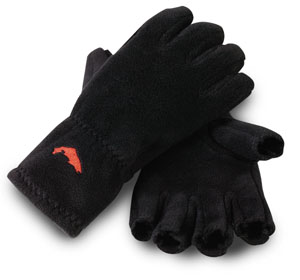 Simms Freestone Half-Finger Gloves - Black