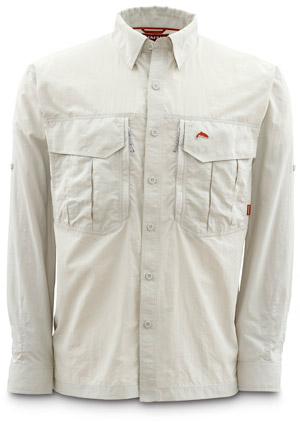 <font color=red>On Sale - Clearance</font><br>Simms Guide Shirt - Stone