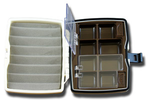 Heavy Duty Compact Fly Box - 8 Compartment w/ Ripple Foam