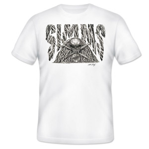 <font color=red>On Sale - Clearance</font><br>Simms T-Shirt - Bishop Mangrove Graveyard - SS - White