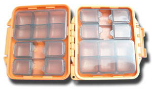 Meiho Waterproof Component System Fly Box - 14 Compartment - Orange