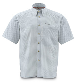 <font color=red>On Sale - Clearance</font><br>Simms Morada SS Shirt - Ash Grey Plaid
