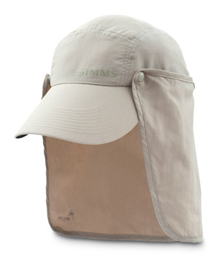 <font color=red>On Sale - Clearance</font><br>Simms NFZ Sunshield Hat - Dark Khaki