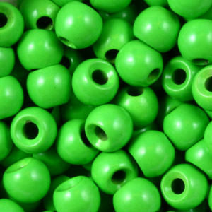 Brass Nymph Beads - 100/Bag - Fl Green