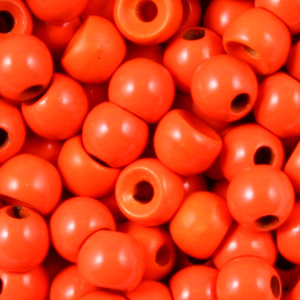 Brass Nymph Beads - 100/Bag - Fl Orange