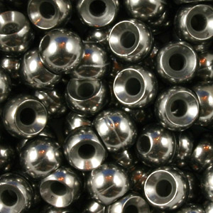 Tungsten Nymph Beads - 100/Bag - Uncoated