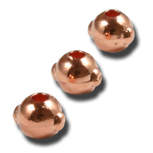 Tungsten Nymph Beads with Eyes - 25/Bag - Copper