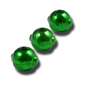 Tungsten Nymph Beads with Eyes - 25/Bag - Green