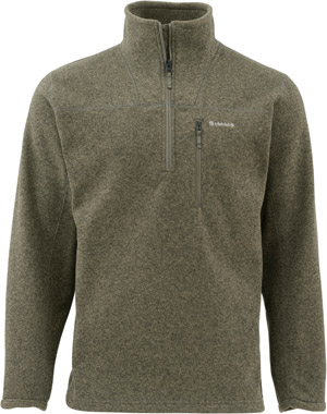 <font color=red>On Sale - Clearance</font><br>Simms Rivershed Sweater Quarter Zip - Loden