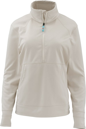 <font color=red>On Sale - Clearance</font><br>Simms Women's Madison Fleece Popover - Linen