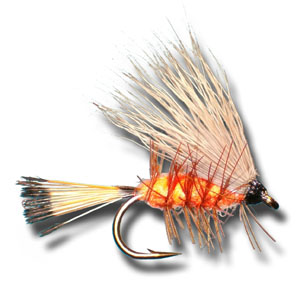 Palmered Caddis - Orange
