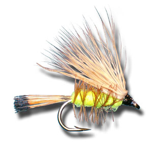 Palmered Caddis - Yellow