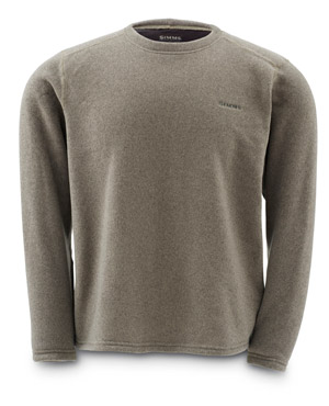 <font color=red>On Sale - Clearance</font><br>Simms Rivershed Crew Neck - Cinder