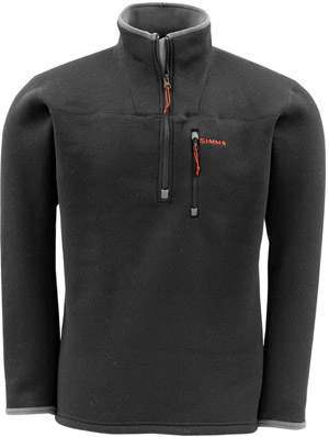 <font color=red>On Sale - Clearance</font><br>Simms Rivershed Sweater - Black (Discountinued)