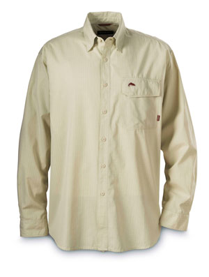 <font color=red>On Sale - Clearance</font><br>Simms Riverside Check Shirt - Green